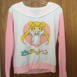 Sailor moon harajuku cosplay sweat shirt